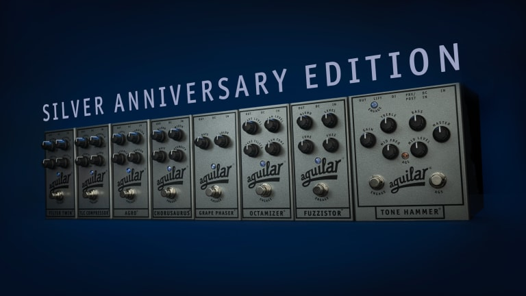 Aguilar Amplification Announces Limited Edition Silver Anniversary Pedals