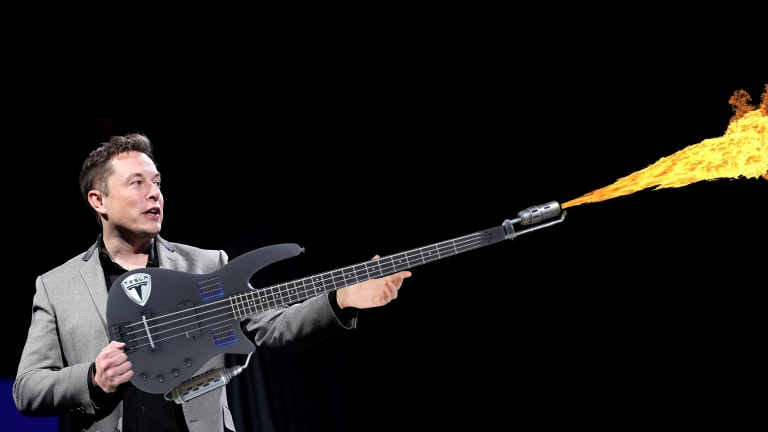 Elon Musk Unveils New Solar Cell-Powered Flamethrower Bass