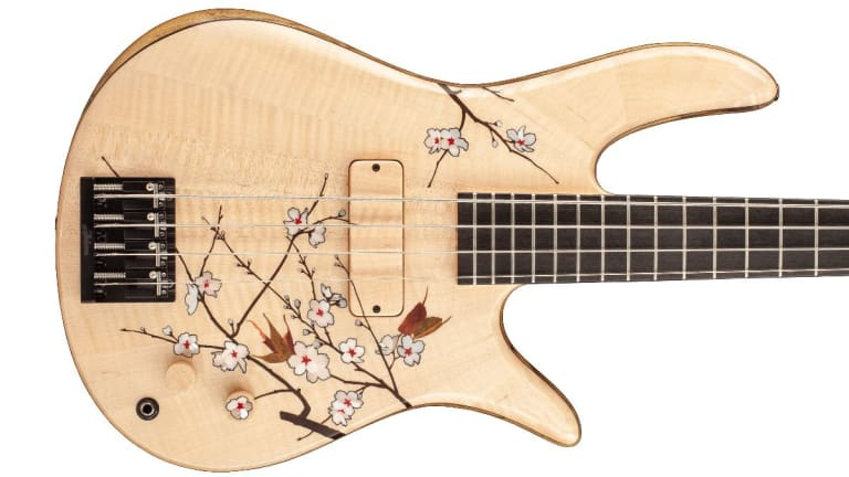 Fodera Introduces the Masterbuilt  Cherry Blossom Bass