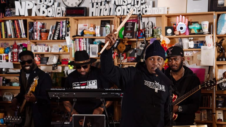Chris Dave and the Drumhedz Perform on NPR's Tiny Desk With Thaddaeus Tribbett on Bass