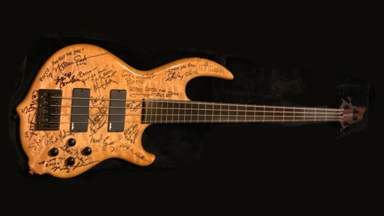 Signed Francis Rocco Prestia Bass For Sale For The Rocco Prestia Bass Scholarship At Berklee College of Music