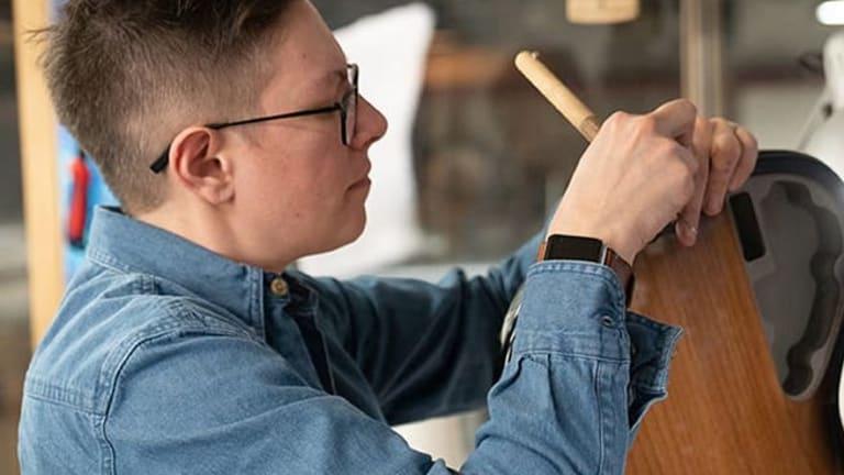 Dickies Clothing Spotlights Bass Luthier Ellis Hahn of LEH Guitars