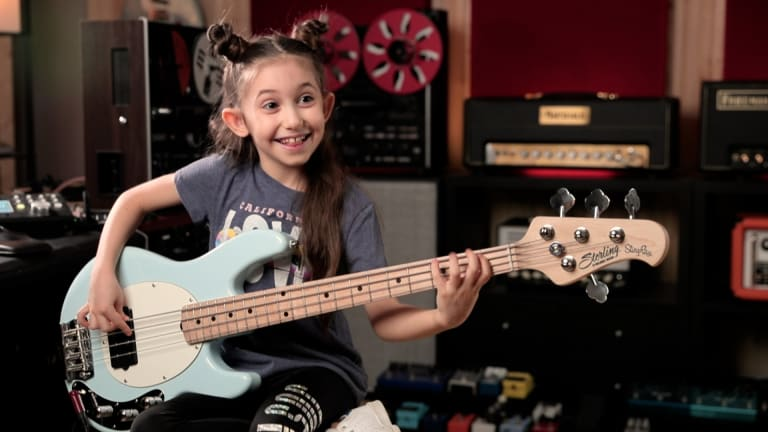 "Watch 9 Year Old Bassist Ellen Alaverdyan Play Rush's ""Tom Sawyer"""