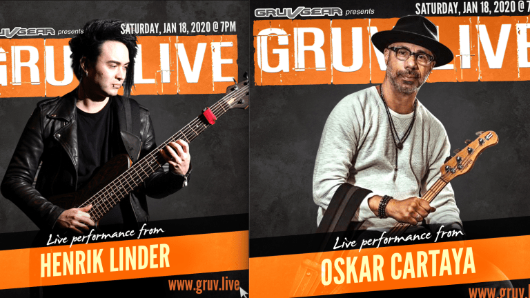 Bassists Henrik Linder, Oskar Cartaya, Kenneth 'Kaybass' Diggs II And Junior Ribeiro Braguinha Play GRUV LIVE 2020