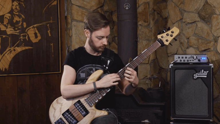"Watch Wilhelmus Sapanaro of Valence's Bass Playthrough of ""Walrus"""
