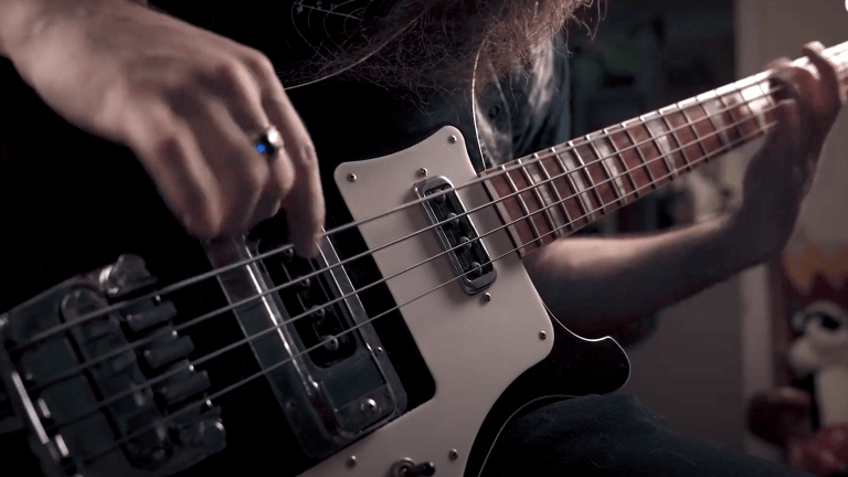 "Watch Matt LeBlanc of Ancient Thrones' Bass Playthrough of ""The Millionth Grave"""