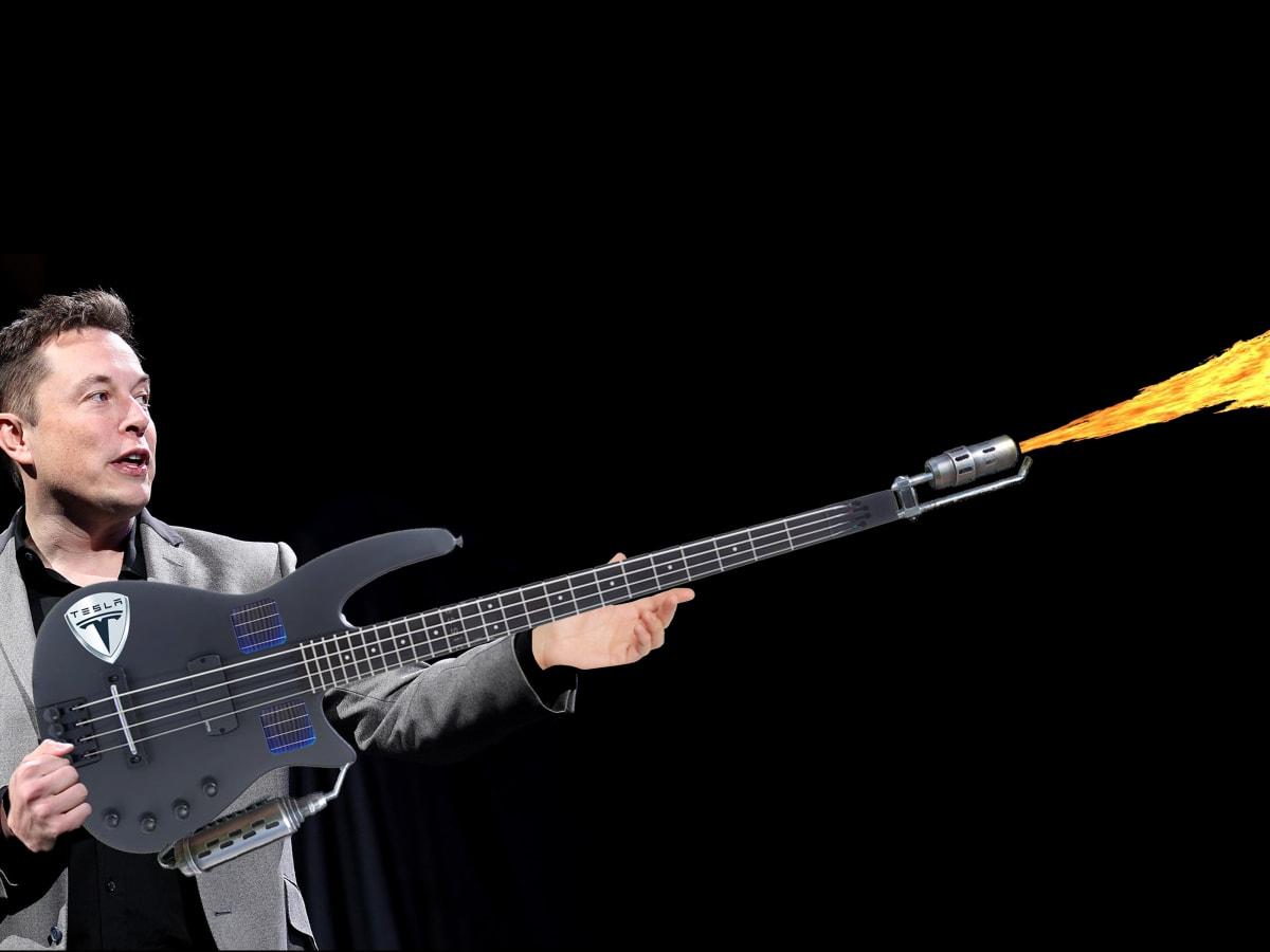 Elon Musk Unveils New Solar Cell Powered Flamethrower Bass Bass Magazine The Future Of Bass