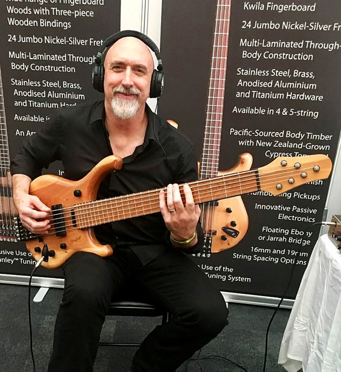 Dave Smith playing a Stonefield bass