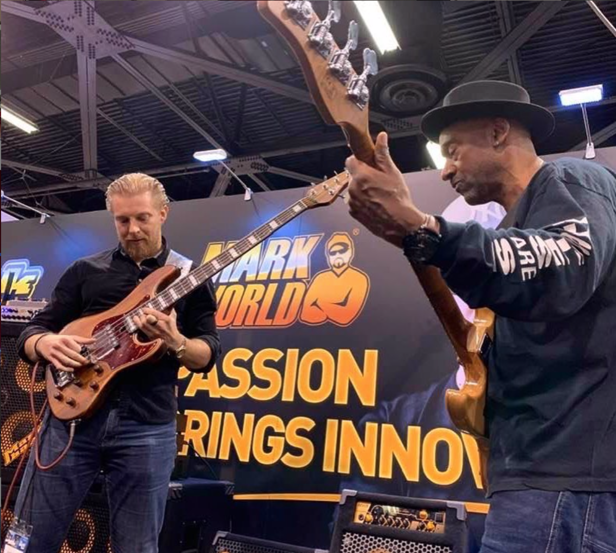 Hadrien Feraud and Marcus Miller bringing it at Markbass.