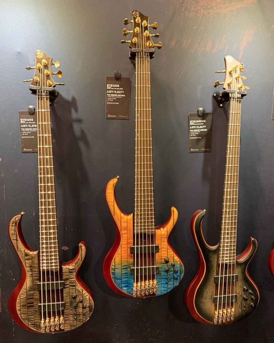 The new models of Ibanez's BTB Basses.