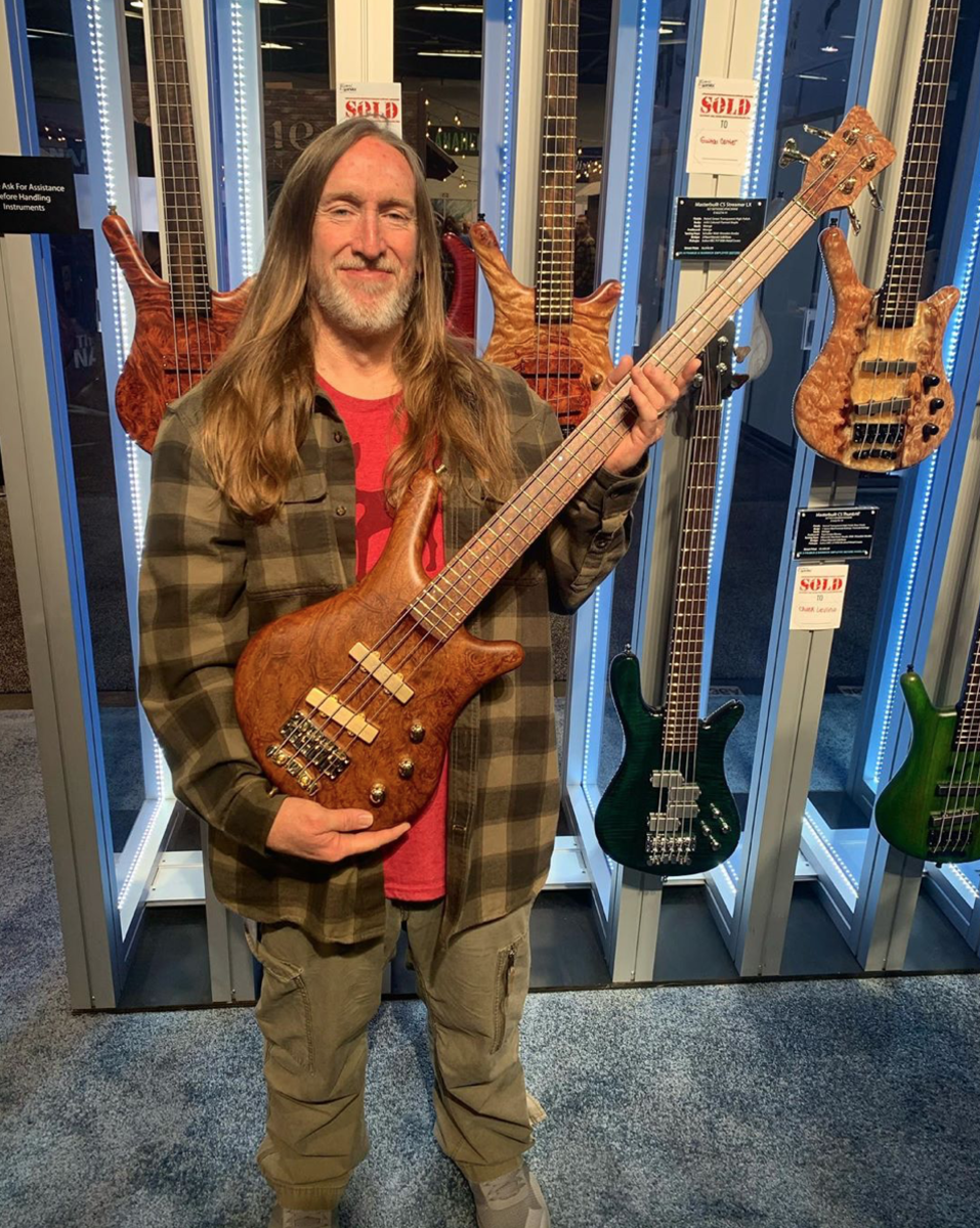 Scott Reeder with a Warwick Masterbuilt Thumb Bass.