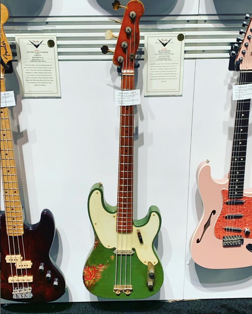 A Fender '68 Telecaster Relic Bass.