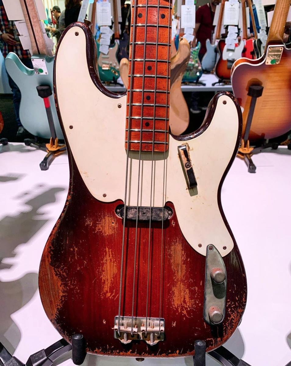 A Fender 1955 Precision Bass Relic.