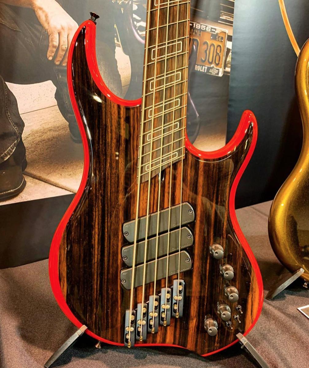 A Dingwall Z3X 5-string Bass.