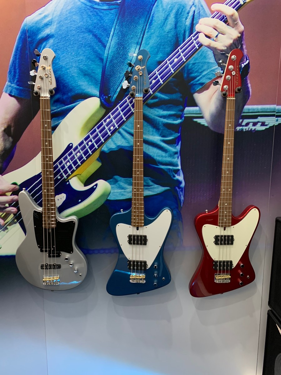 The brand new Ashdown basses.