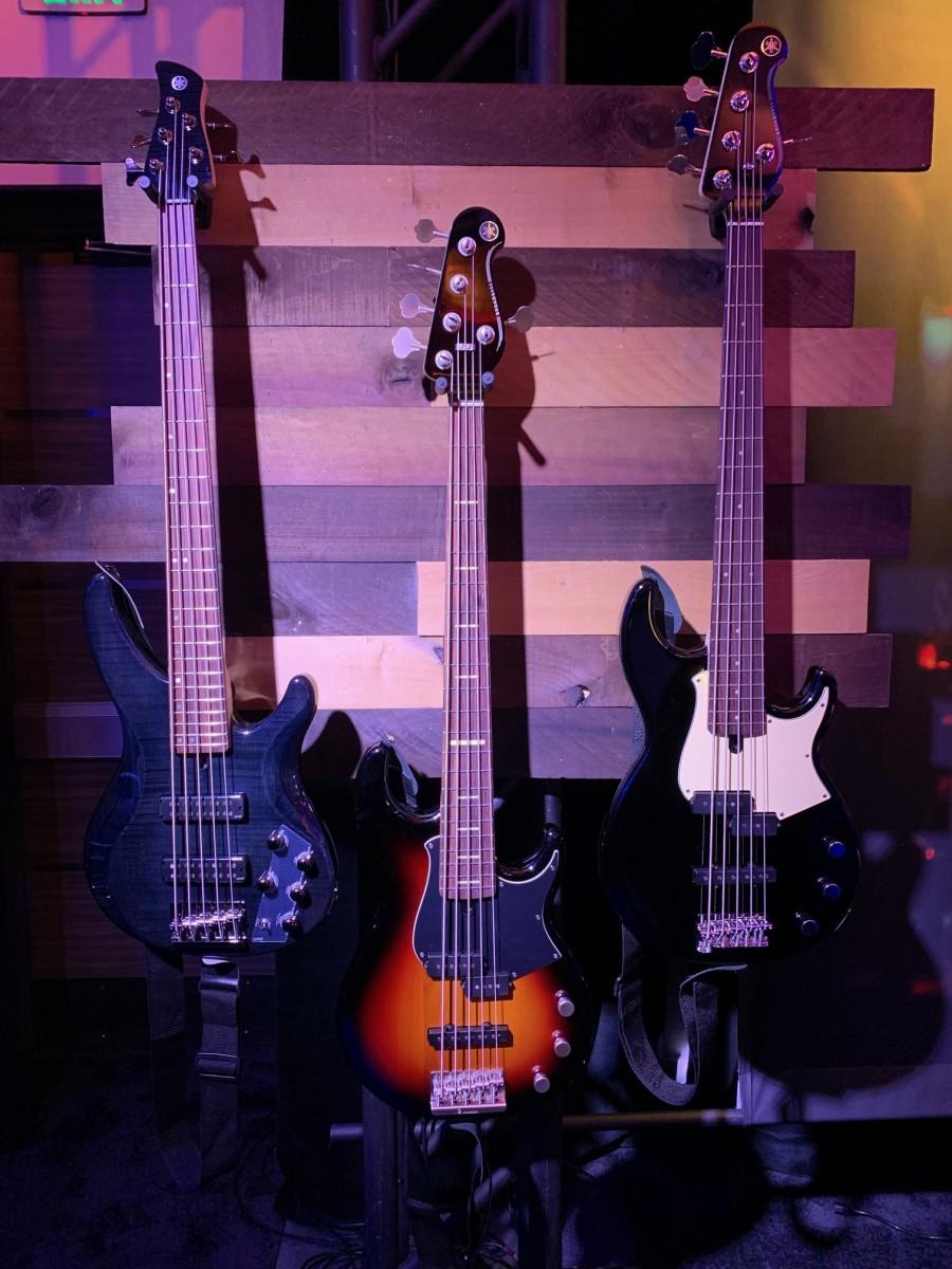 A trio of Yamaha BB Basses.