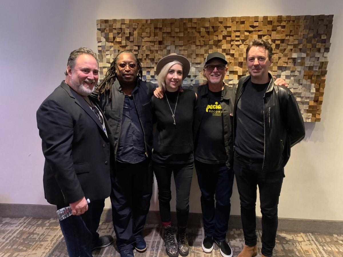 DinoMonoxelos of Ampeg, Darryl Jones of the Rolling Stones, Eva Gardner (Pink, Gwen Stefani, Cher), Bob Glaub, and Sean Hurley.