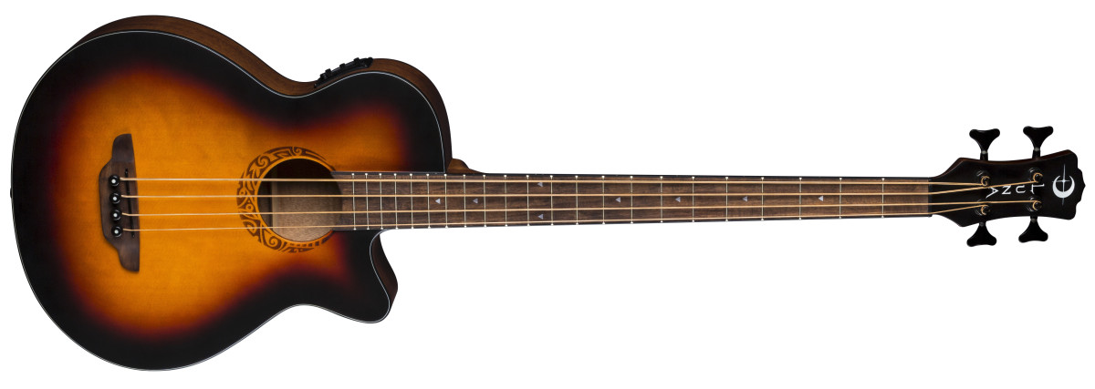 Luna Tribal Acoustic Bass