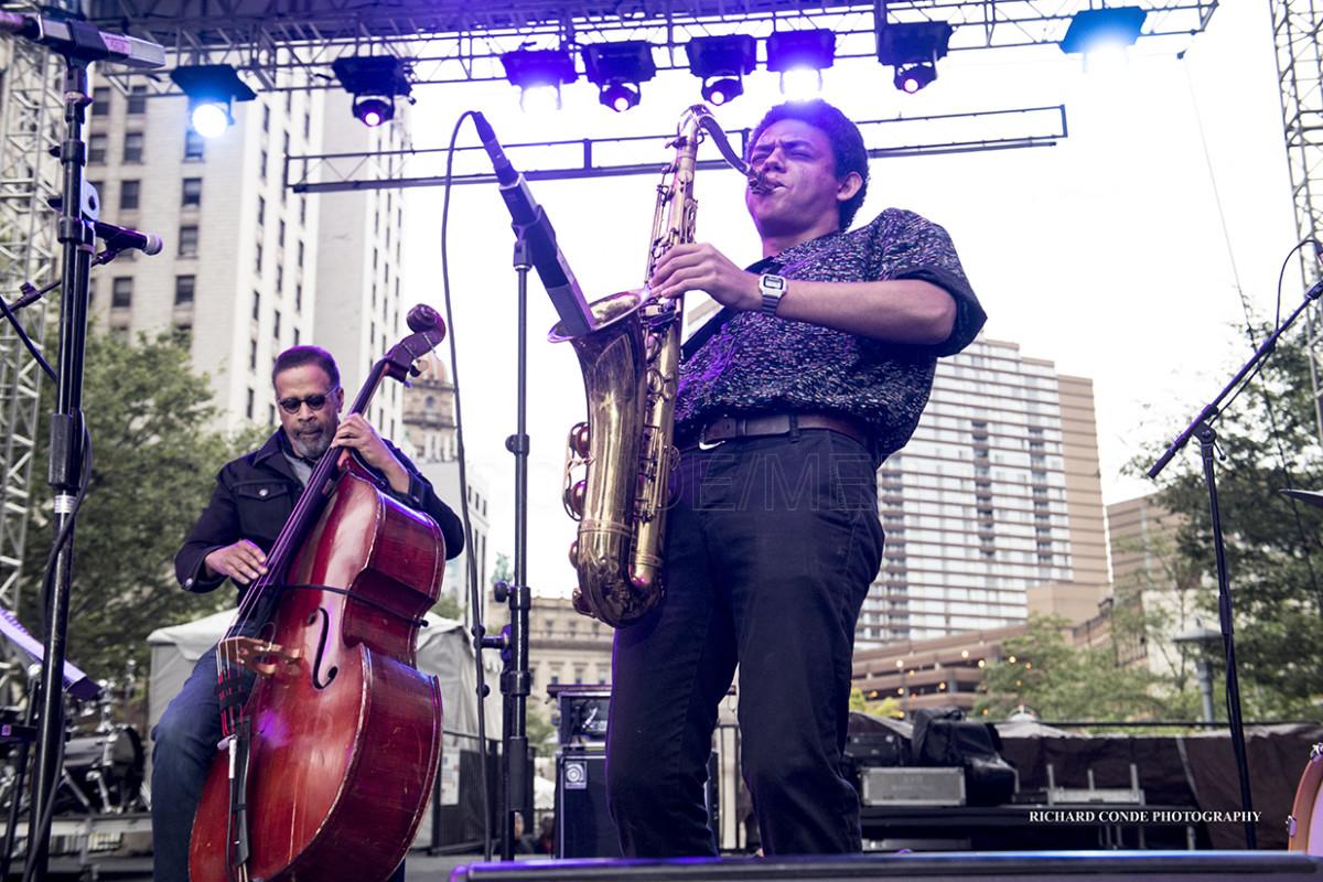 Clarke performing with Emilio Modeste