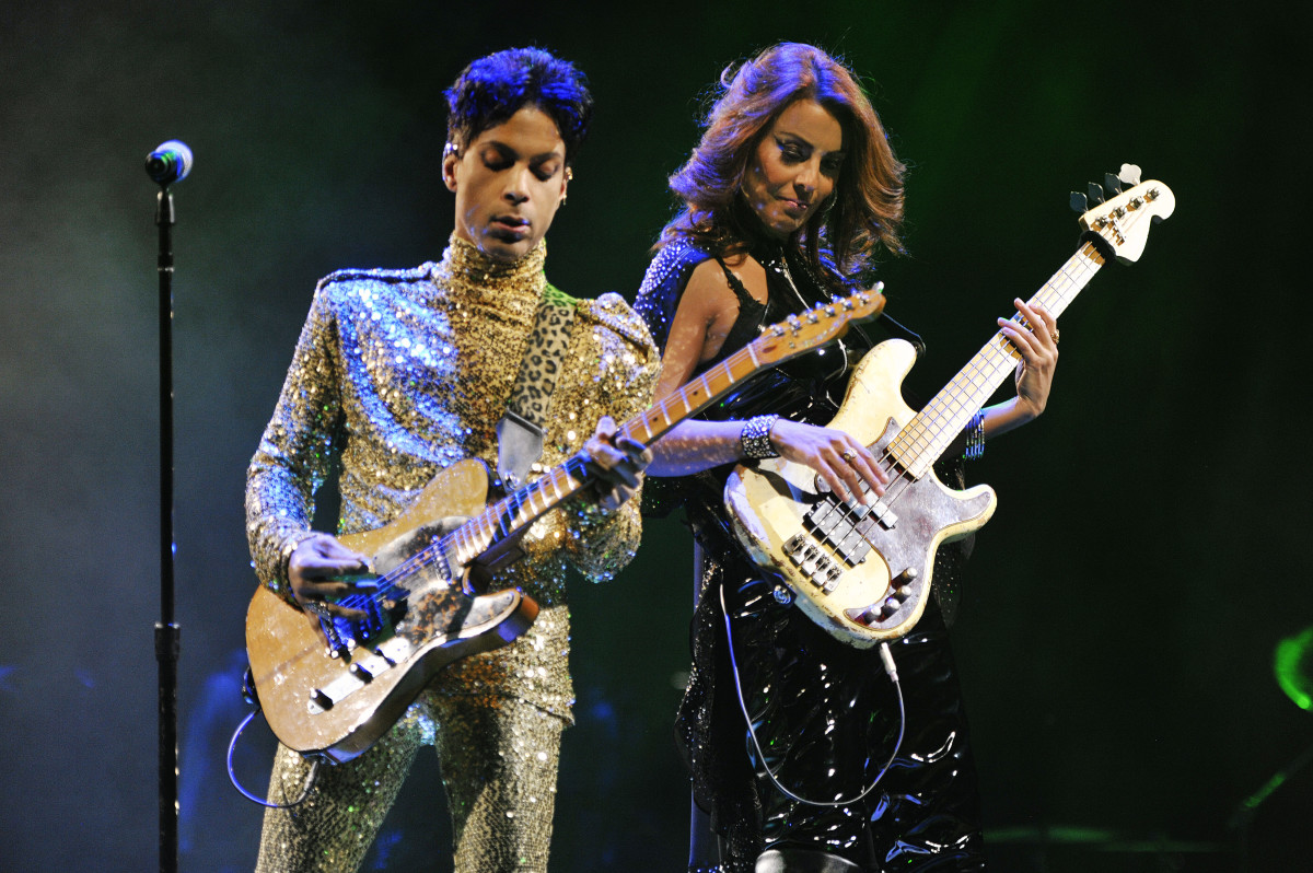Nielsen performing with Prince