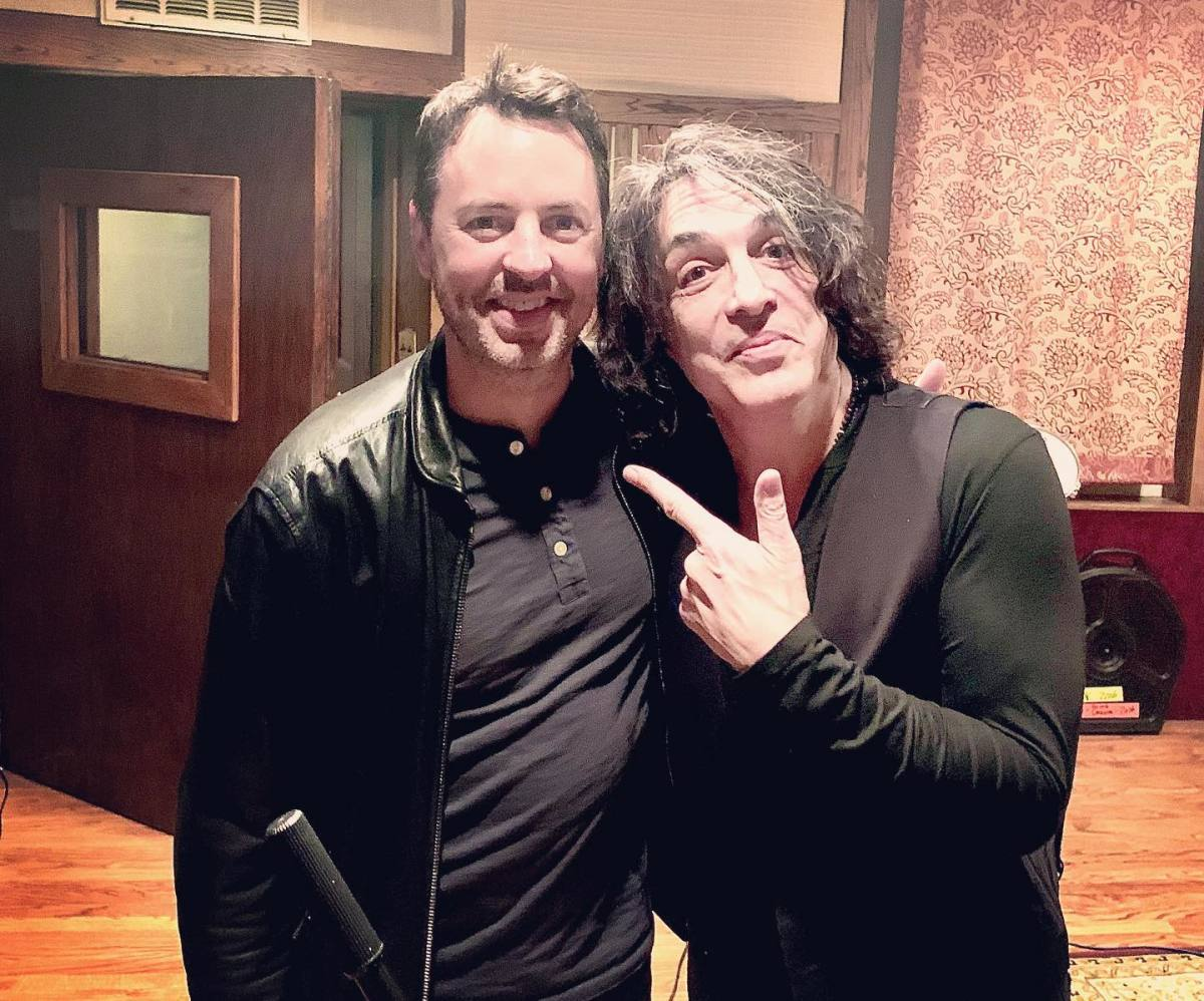 Hurley with Paul Stanley