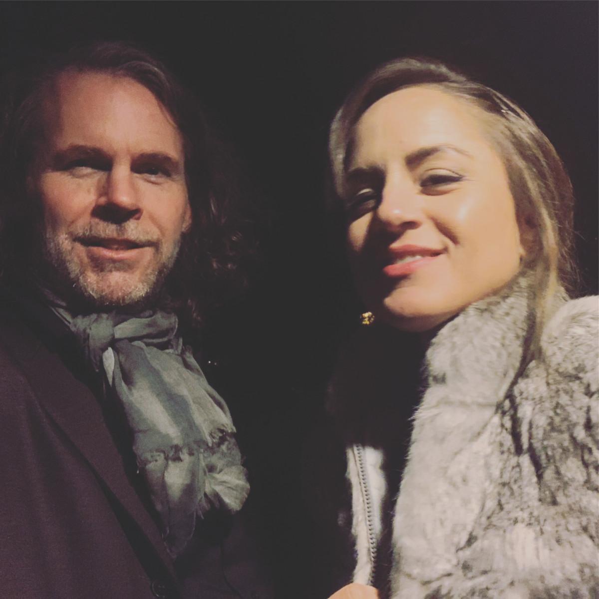 Lefebvre with his wife, musician Rachel Eckroth