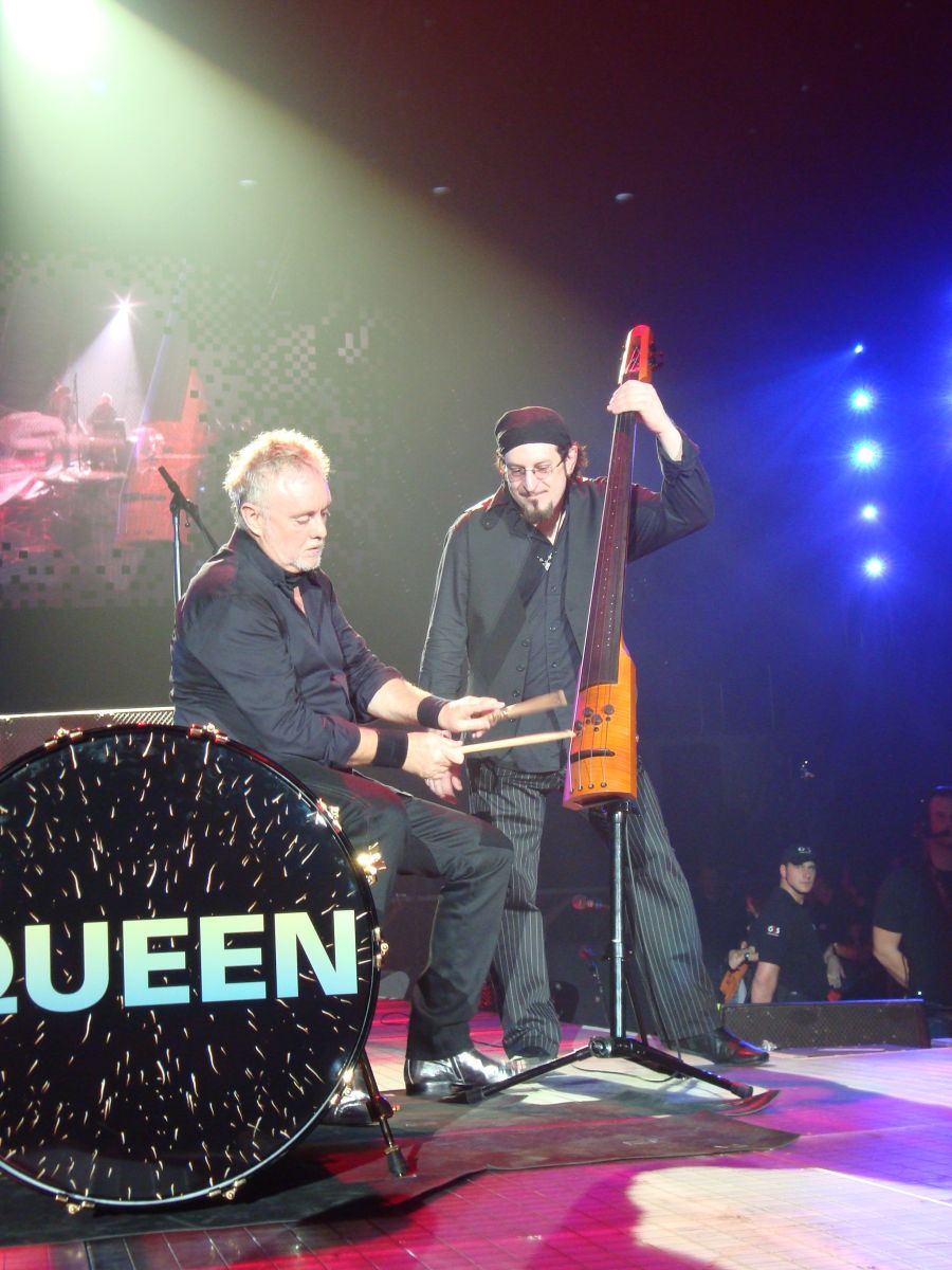 The upright bass duet with Roger was inspired by Gene Krupa (Image: Sarah Simpson).