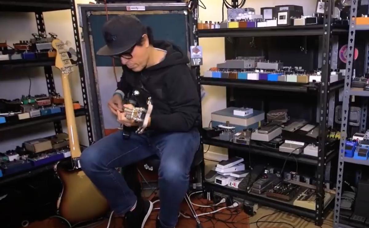 Juan Alederete demoing some pedals