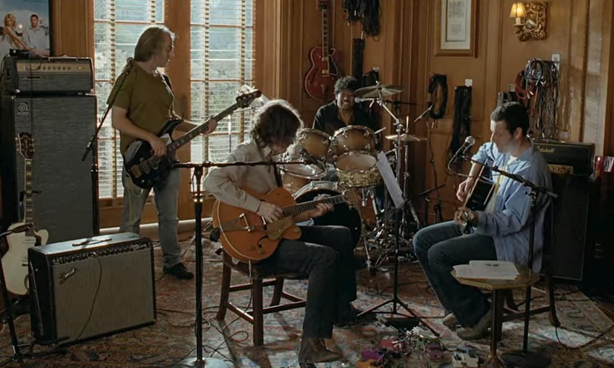 "Steinberg, Jon Brion, James Gadson and Adam Sandler in ""Funny People"" (2009)"