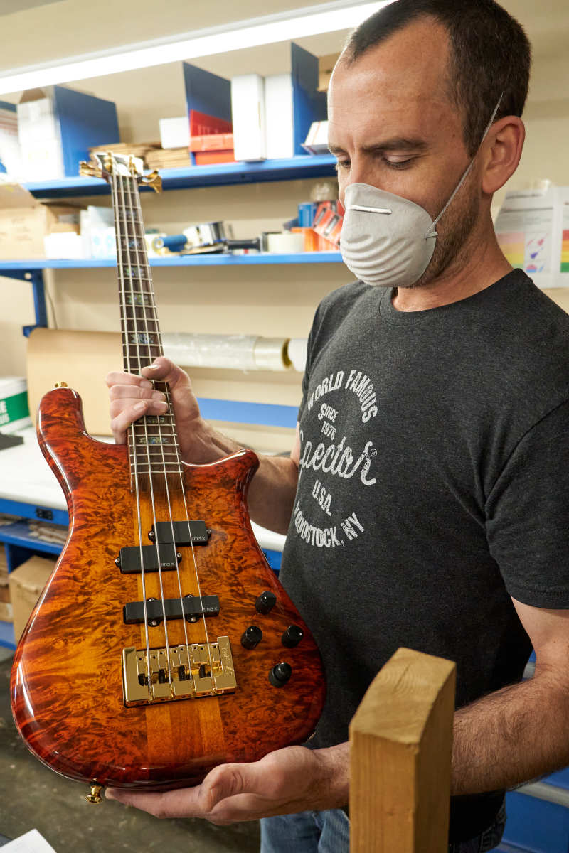 Colin Almquist holds a finished NS-2