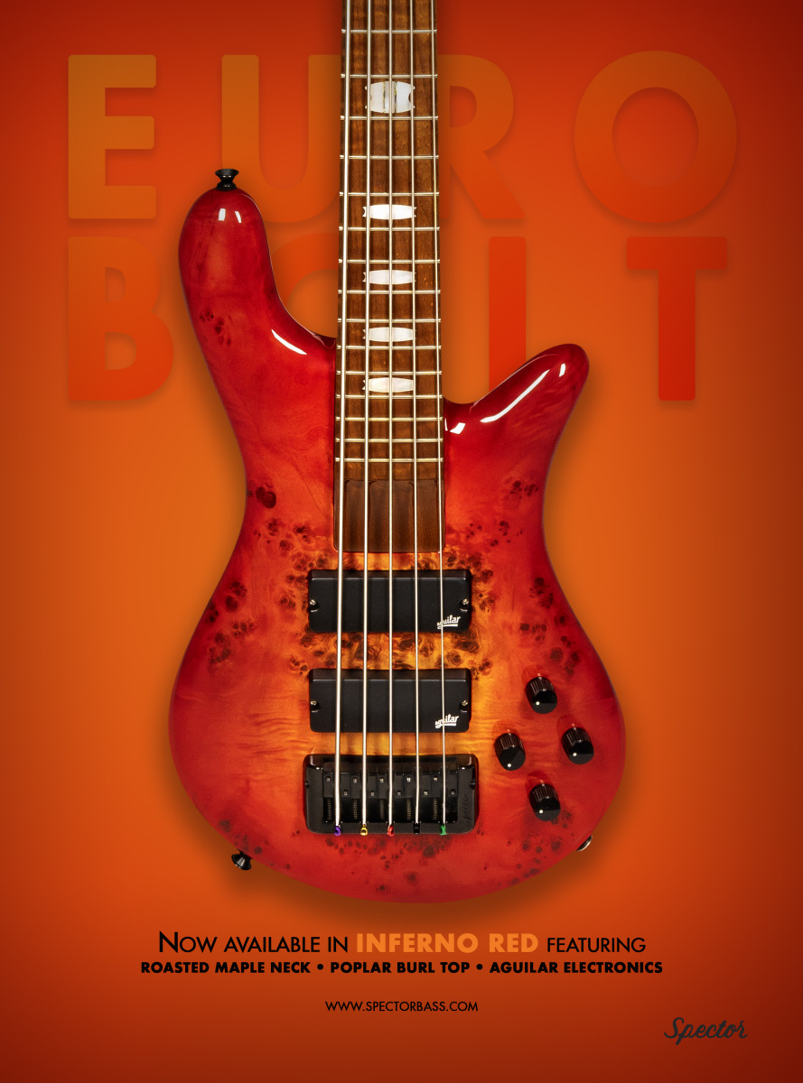Spector Euro_Bolt_Inferno Red_Bass Magazine copy 2